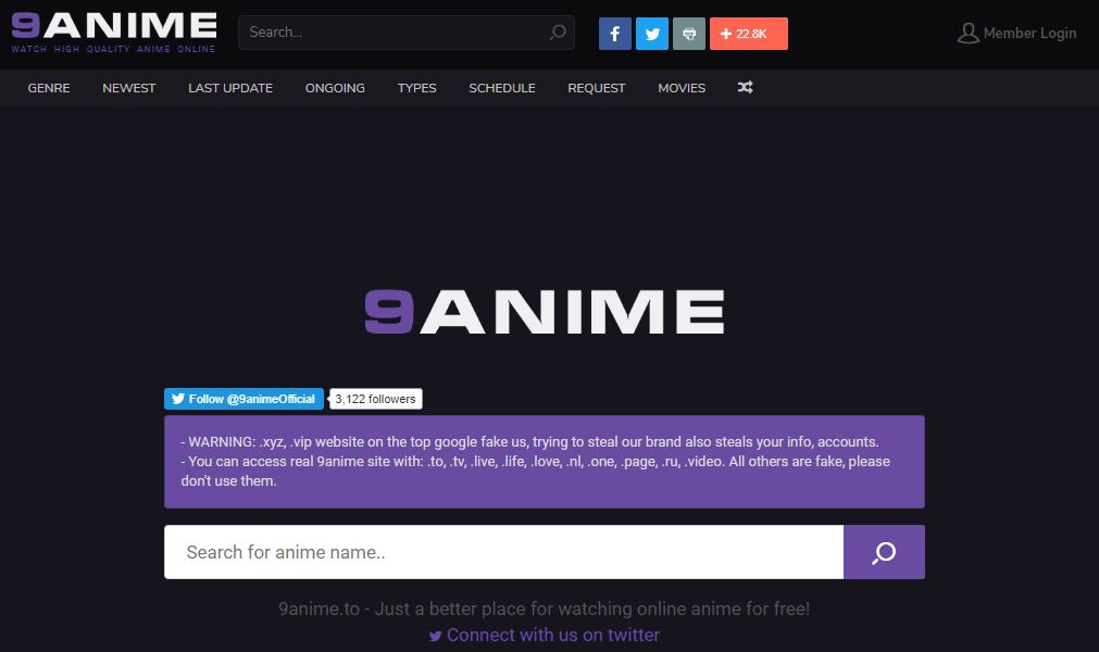 9Anime - Best Anime Sites