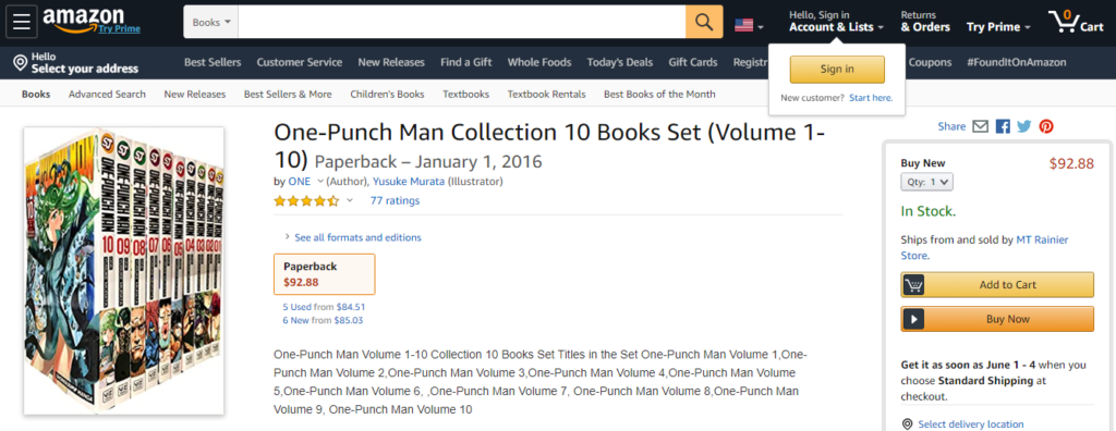 Amazon one punch man