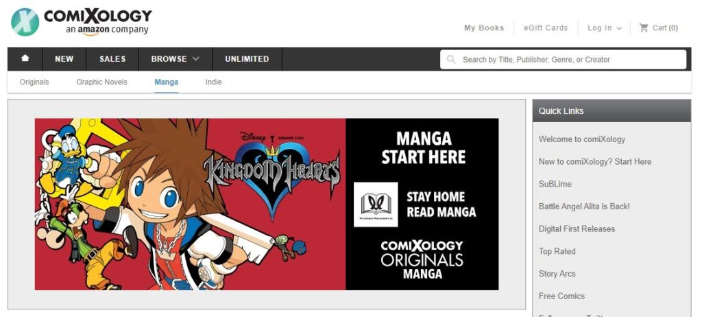Comixology top manga websites