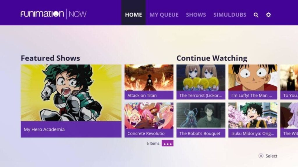 funimation - Best Anime Sites