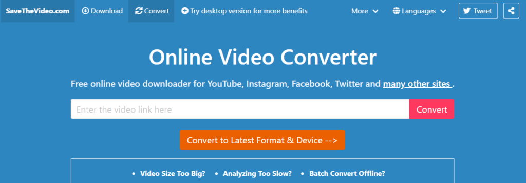 SaveTheVideo - Convert YouTube To WAV