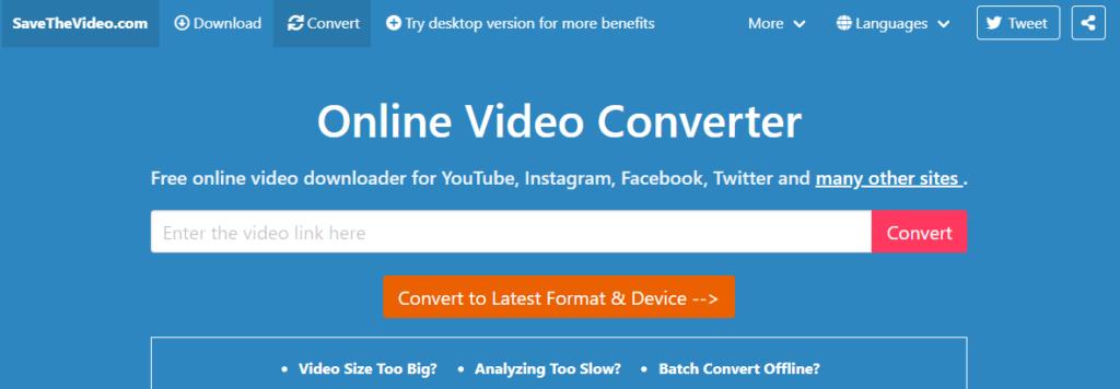 SaveTheVideo - Convert YouTube To WAV