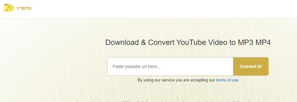 YTBTO Convert YouTube To WAV