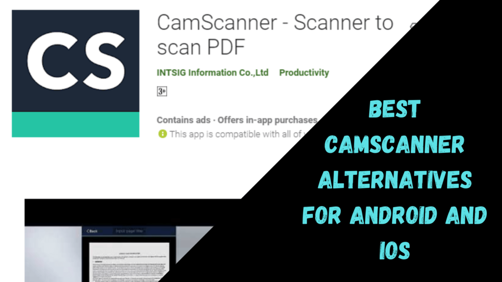 Best CamScanner Alternatives For Android and iOS