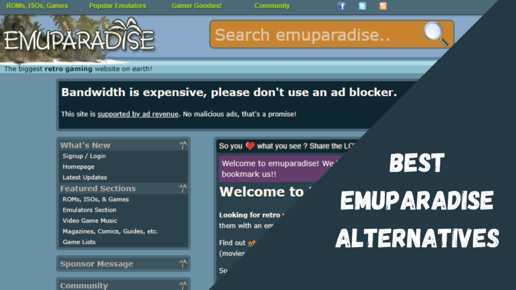 Best Emuparadise Alternatives