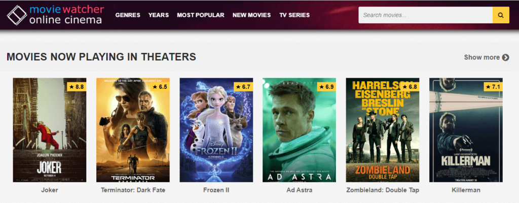 Movies Watcher website